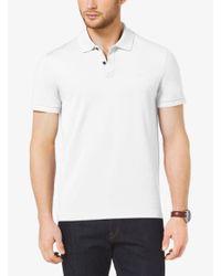 Michael Kors White Cotton Polo Shirt for men