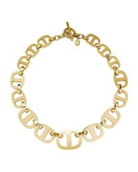 Michael Kors - Metallic Maritime Link Gold-tone Necklace - Lyst