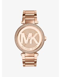 Michael Kors Pink Parker Pavé Rose Gold-tone Watch