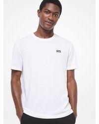 T-Shirt In Misto Seta E Cotone di Michael Kors in White da Uomo