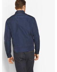 Michael Kors Blue Nylon Trucker Jacket for men