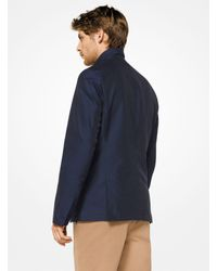 Michael Kors Blue Nylon Zip-front Blazer for men