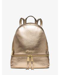 Michael Kors Rhea Metallic Medium Backpack