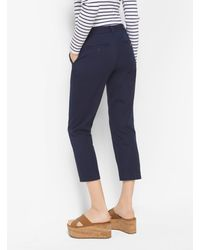 Michael Kors Blue Slim-fit Stretch-twill Cropped Trousers