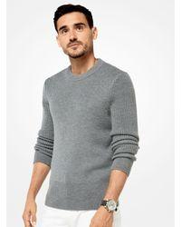 Michael Kors - Gray Merino Knit Pullover for Men - Lyst