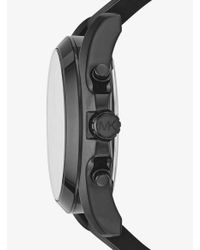 Michael Kors Bradshaw Black-tone And Silicone Watch for men