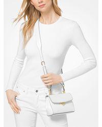 Michael Kors - White Ava Extra-small Scalloped Leather Crossbody - Lyst