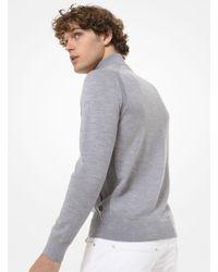 Michael Kors Sweater aus Merinowolle mit Viertelreißverschluss in Gray für Herren