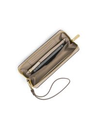 Michael Kors Brown Travel Large Smartphone Wristlet