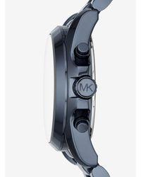 Orologio Bradshaw Oversize Blu di Michael Kors in Blue