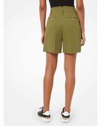 Pantalón corto de traje de tejido prensado Michael Kors de color Green