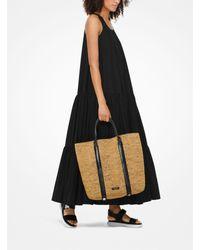 Grand sac à main Antibes en raphia Michael Kors en coloris Black