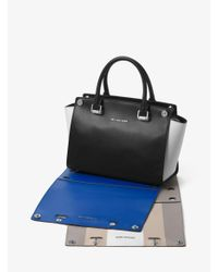 Michael Kors Black Selma 3-In-1 Medium Leather Satchel