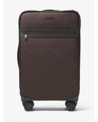 Michael Kors - Brown Jet Set Travel Logo Suitcase for Men - Lyst