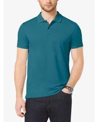 Michael Kors Green Cotton Polo Shirt for men