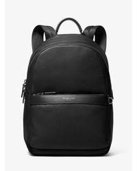 Michael Kors Black Greyson Pebbled Leather Backpack for men