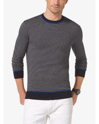 Michael Kors Black Contrast Crewneck Sweater for men