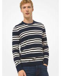 Jersey de punto de algodón texturizado a rayas Michael Kors de hombre de color Blue