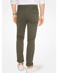 Michael Kors - Green Slim-fit Cotton-twill Five-pocket Pants for Men - Lyst
