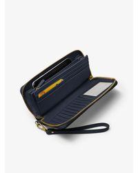 Michael Kors Purple Jet Set Travel Leather Continental Wallet
