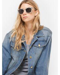 Michael Kors Pink Lia Square Sunglasses