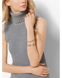 Michael Kors   Metallic Rose Gold-tone Glass Pearl Slider Bracelet   Lyst