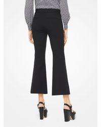 Michael Kors Black Stretch-twill Cropped Sailor Pants