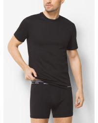 Michael Kors | Black 3-pack Crewneck Cotton T-shirt for Men | Lyst