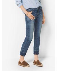 Jeans Dritti Con Fondo Aperto di Michael Kors in Blue