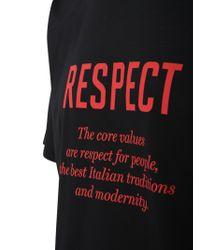 Kiton Black Slogan Print T-shirt for men