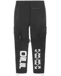 Pantaloni di Off-White c/o Virgil Abloh in Black da Uomo