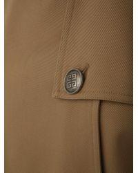 Trench doppiopetto beige in gabardine di cotone con maniche a tre quarti e cintura. di Givenchy in Natural