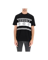 Versace T-shirt Logoprint in het Black voor heren