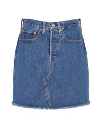 Levi's Hr Decon Iconic Bf Skirt in het Blue