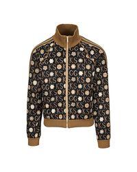 Gucci Zip Through Sweatshirt in het Black voor heren