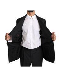 Striped Two Piece 2 Button Wool Suit Negro DSquared² de hombre de color Black