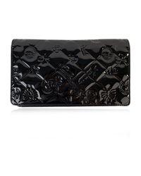 Portefeuille long Chanel Vintage en coloris Black