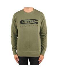 G-Star RAW Graphic 18 Core in het Green voor heren