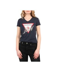 Guess Icon Tee in het Blue