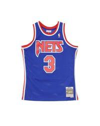 Mitchell & Ness Basketball Nba Swingman Jersey Drazen Petrovic No3 1992-93 Nejnet Road in het Blue voor heren