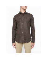 Shirt di Tintoria Mattei 954 in Brown da Uomo