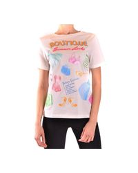 Boutique Moschino T-shirt in het White