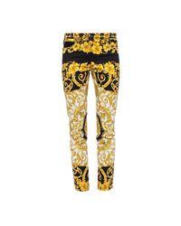 Versace Baroque Motif Jeans in het Yellow