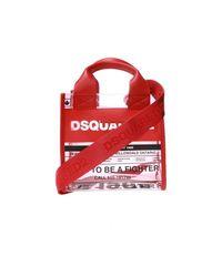 DSquared² Translucent Shoulder Bag With Logo in het Red