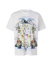 Mc2 Saint Barth Marine Sketch T-shirt in het White voor heren
