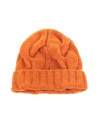 Loro Piana Hat in het Orange