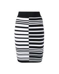 DROMe Stripe Jacquard Skirt in het Black