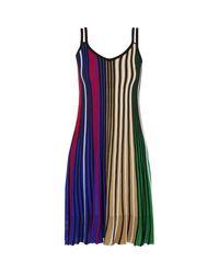 KENZO Vertical Rib Sleeveless Dress in het Blue