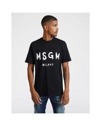 MSGM S / S T-shirt in het Black voor heren
