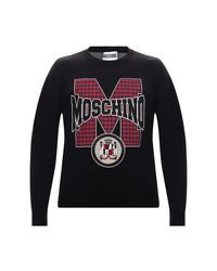 Sweatshirt di Moschino in Black da Uomo
